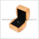 Caixa de jóia de madeira feita sob encomenda Handmade luxuosa por atacado de China para o anel, colar, relógio