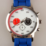 Horloge het Van uitstekende kwaliteit van het Paar van de Manchet van de Manier van het Horloge van de Riem van het Silicium van het Geval van de legering