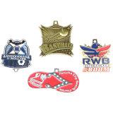Firmenzeichen gedruckte Andenken-Medaillen mit Farbband-Sport-Medaillen-Aufhängung