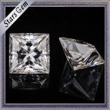 6*6mm Gh Vs claridad Squar Moissanite Corte princesa para el anillo de boda