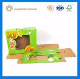 L&#039;impression pleine couleur personnalisée rigide boîte en carton<br/> de fruits de goyave l&#039;emballage en carton ondulé avec fenêtre PVC