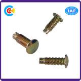 DIN/ANSI/BS/JIS Carbon-Steel/Stainless-Steel mano palabra tornillo tornillo pasador remache no estándar para la construcción de ferrocarriles//puente