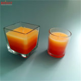 Três coloridos vela de vidro Scented do frasco das camadas 3% com MSDS