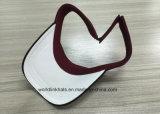 Chapéu feito sob encomenda da viseira do algodão, chapéu de Sun do bordado 3D