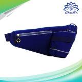 スポーツのための防水連続したベルトのウエスト袋はヘッドセットを穴合ったSmartphonesに詰める