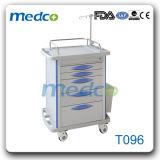 病院の患者のためのアルミニウム麻酔の処置のカートの薬のトロリー