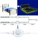 Sensor de movimento sensível de 1,5 m sob a faixa de LED de luz da cama