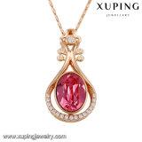 Swarovskiの模造ダイヤモンドネックレスからの43162のXupingの卸し売り銅合金の金の板状結晶