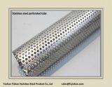 Pipe perforée d'acier inoxydable de silencieux d'échappement de SS304 76*1.2 millimètre