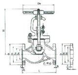 """Robinet d'arrêt sphérique de vapeur de fer de moulage J11t-16 (1/2 """" - 2 """")"""