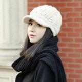 Женщины связали женскими теплыми шлем крышки девушки Headgear Snapback переплетенный Beanies (HW132)