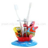 Vasos y tazas felices de la resina de las historietas para el conjunto de la vanidad del cuarto de baño