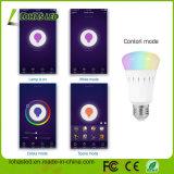 Multicolored 9W E27 B22 Slimme LEIDENE Gecontroleerde Werk van de Gloeilamp Smartphone met het Huis van Amazonië Alexa Google
