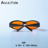 Los anteojos del protector de ojo del laser protegen longitud de onda: 200 - 540nm para 266nm el laser, 355nm laser, 515nm laser, 532nm laser, excímero, ultravioleta, laser verde
