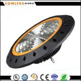 Luz AC100-240V, 220V, alta bahía de la bahía del UFO LED del precio de fábrica 100W alta de 85-265V LED con la larga vida 50000hrs