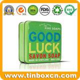 금속 선물 포장 상자를 위한 정연한 비누 주석 상자