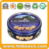 금속 양철 깡통 덴마크 버터 과자 주석 상자의 둘레에 돋을새김하는