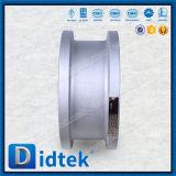 Entrega Rápida Didtek Wafer de aço fundido da válvula de retenção do elevador