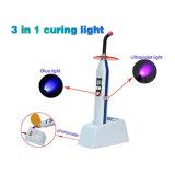 3 en 1 luz de curado dental ligera azul de la fábrica LED de la alta calidad