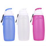 Бутылка воды течебезопасного многоразового ясного силикона складная для перемещения