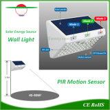 Lampada impermeabile di illuminazione del LED di movimento del sensore dell'indicatore luminoso solare esterno della parete