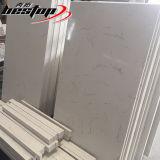 La figura rotonda ha facilitato il piano d'appoggio composito del quarzo del quarzo artificiale bianco Polished di Carrara