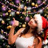 Luz da corda do Natal, Yming 9.8FT luz feericamente clara estrelado de 400 diodos emissores de luz, luz decorativa ao ar livre interna para o Natal, quarto da corda da esfera, pátio, jardim, Wedding