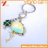 Kundenspezifische Qualitäts-Laufkatze-Münze Keychain mit Farben-Firmenzeichen (YB-LY-K-15)