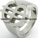 De Opgepoetste Ring van het Roestvrij staal van de Juwelen van de manier hoog
