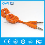Тонкий кабель от 3.5mm до 3.5mm эластичный тональнозвуковой