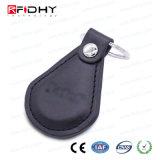 Venta caliente llavero de cuero Llavero RFID Control de acceso