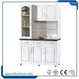 MDF白いカラー食器棚5のドアPVC台所Kabinetの食器棚