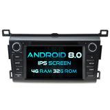 Witson Acht Androïde 8.0 Auto van de Kern DVD voor IPS van ROM van het Scherm van de Aanraking van ROM 1080P van Toyota RAV4 4G 32GB het Scherm