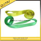 持ち上げるための安全ベルトのオレンジ平らなウェビングの吊り鎖(NHWS-B)を