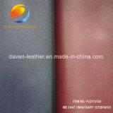 Cuero artificial con la superficie polaca para los zapatos