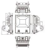 Aushärtende Flutlicht-UVhohe Leistung LED helles 395nm 100W
