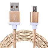 1m Nylon Isoliermikro-USB-Kabel-Aufladeeinheit und Daten-Synchronisierungs-Kabel für Andriod Mobile
