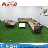 Meubles de jardin en plein air de haute qualité polyester Patio de corde ensemble canapé