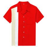 복장 힙합 당 클럽 착용 남자의 1950 년대 볼링을 하는 셔츠