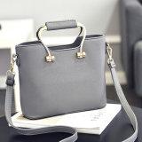 Sacchetti di cuoio delle signore delle borse di colori differenti con il bello disegno