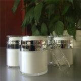 サンプルクリーム色のローションの包装のための自由で純粋で白く贅沢なアクリルの装飾的で空気のないポンプびんの瓶