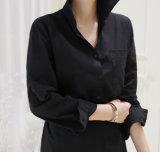 Commerce de gros simple longue chemise robe avec ceinture