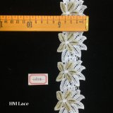 garniture étroite de lacet d'onde de 5cm, ivoire, pour l'album, les métiers à la maison Hme855 de décor, d'habillement, d'accessoires, victoriens et romantiques