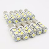 Luz popular do interior do carro 9SMD do diodo emissor de luz 12V 24V Ba9s 5050 do carro