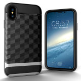 Nuova cassa spazzolata del telefono di Anti-Goccia dello specchio di Ling per il iPhone X