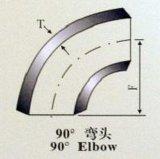 304 316 ANSI B16.9のバットによって溶接されるステンレス鋼90度の肘(くねり)