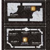 Décor de moulage Hn-8602X de polyuréthane de coins et de bâtis de panneau d'unité centrale