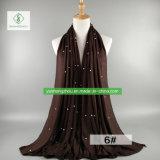 2017 de Duidelijke Tulband van de Sjaal van de Vrouwen van de Manier van de Parel Modale Mohammedaanse Vrouwelijke