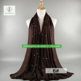 2018 de Duidelijke Tulband van de Sjaal van de Vrouwen van de Manier van de Parel Modale Mohammedaanse Vrouwelijke