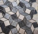 Marmo delle mattonelle della parete della pietra 300X300mm del mosaico di disegno del Rhombus